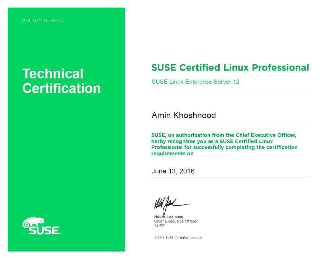 SUSE Certified Linux Professional 12